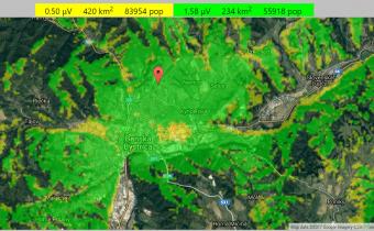 BB PMR opakovač – Info a mapa pokrytia