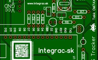 Plošný spoj na APRS Tracker – nadizajnované pre všetkých a zadarmo